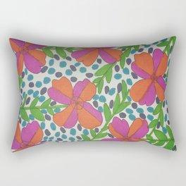 Jungle Rain Flowers Rectangular Pillow