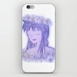Flower Guey iPhone Skin