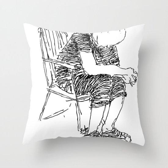The Sitter Throw Pillow