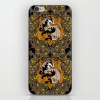 hufflepuff iPhone & iPod Skins featuring Hufflepuff by Cryptovolans