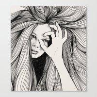 leo Canvas Prints featuring Leo by Hanna Viktorsson