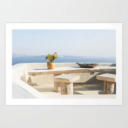 Santorini, Greece #society6 #decor #buyart Art Print