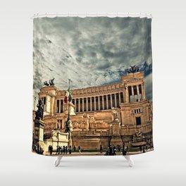 Vittorio Emanuele Monument Palace Rome Italy Shower Curtain
