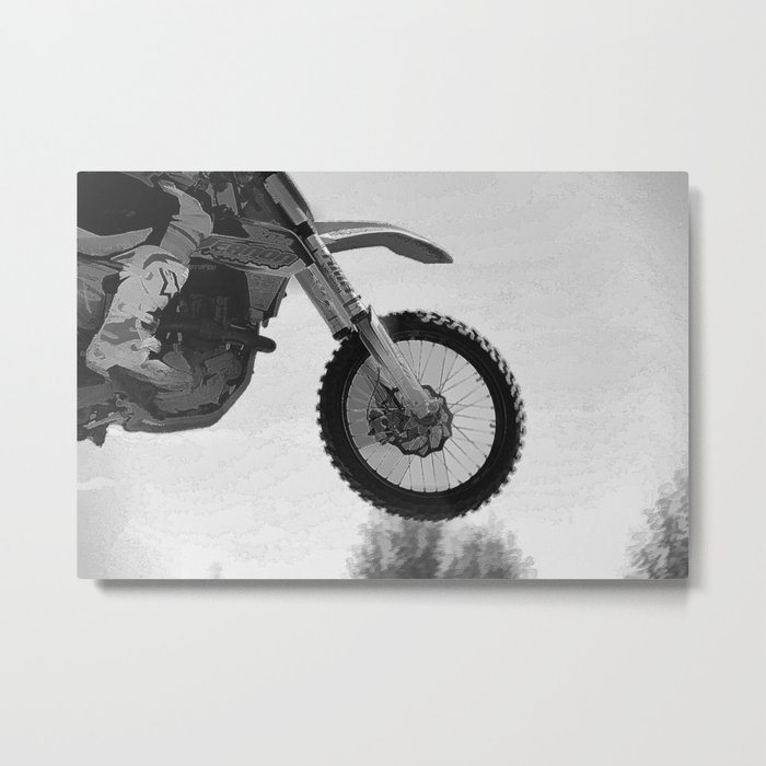Motocross Dirt-Bike Racer Metal Print