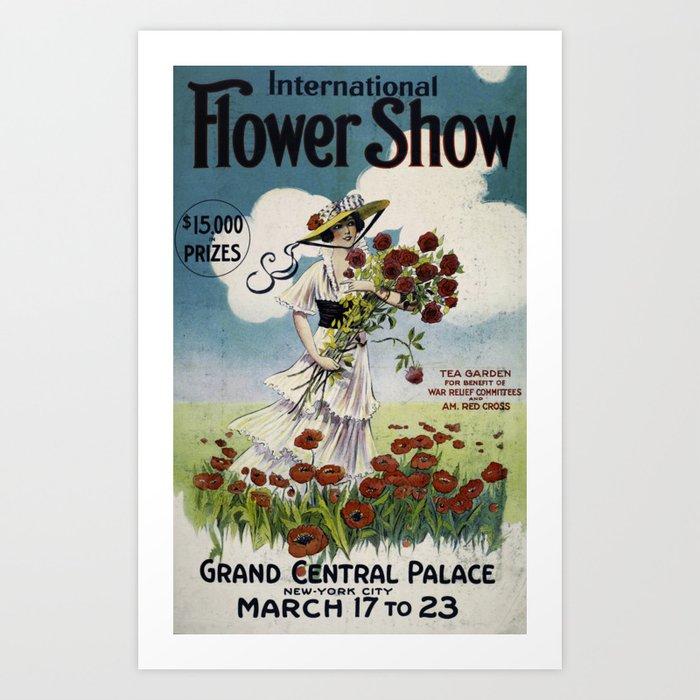 Antique Flower Show Poster Art Print By Oldandbold