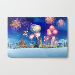 events fireworks Metal Print