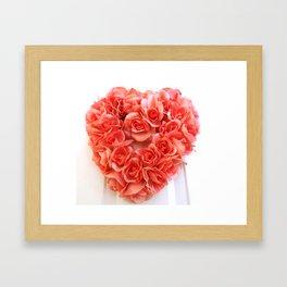 For the Love of Roses Framed Art Print