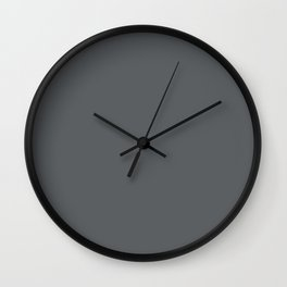 Best Seller Dark Lead Gray Solid Color Pairs w/ Behr Paint's Graphic Charcoal Wall Clock