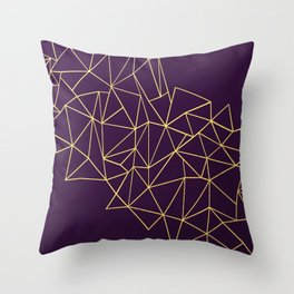 Ultra Purple Geo Throw Pillow