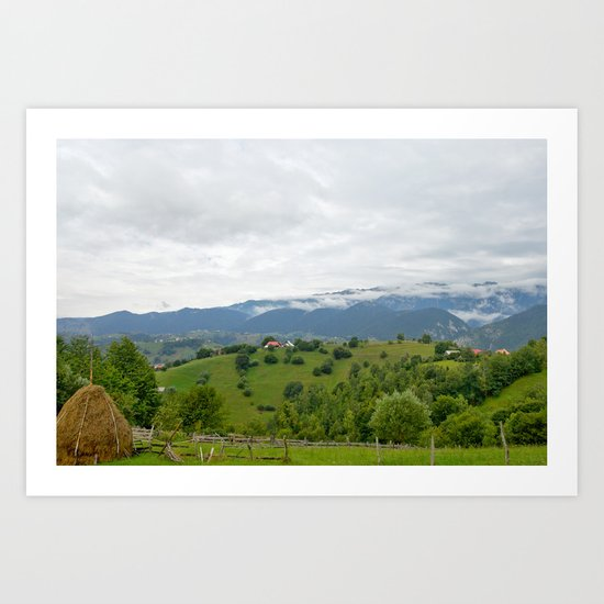 Beautiful Transylvanian mountain landscape Art Print