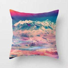 Dusky Mountain Throw Pillow