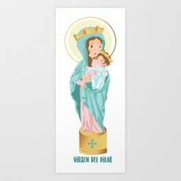Our lady of the Pilar Art Print