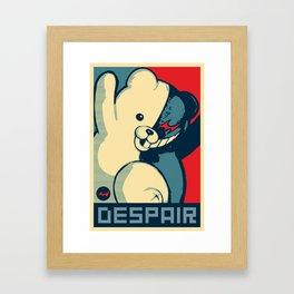 Monokuma: Vote For Ultimate Despair. A Danganronpa design Framed Art Print