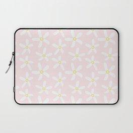 Daisy Pattern on Summer Pink Laptop Sleeve