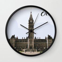 Parliament Hill Ottawa Canada Wall Clock