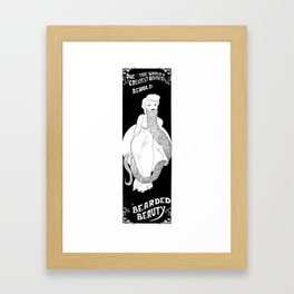 Bearded Beauty Framed Art Print