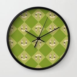 Gold horseshoe Wall Clock