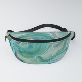 River Eddy - Abstract Acrylic Art by Fluid Nature Fanny Pack