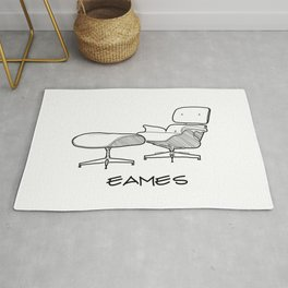Mid-Century - Eames Lounge Chair Sketch (BN) Rug