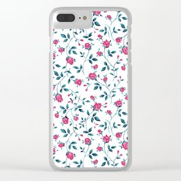 Meadow Rose Clear iPhone Case