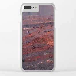 Surface of Mars Low Poly Geometric Triangles Clear iPhone Case