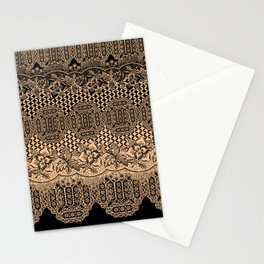 lace border with floral and geo mix Stationery Cards