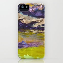 Colorful Thick Textured Paint iPhone Case