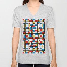Mondrian design, abstract pattern Unisex V-Neck