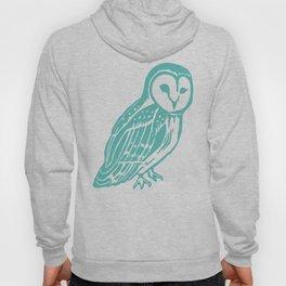 Turquoise Barn Owl Art Hoody
