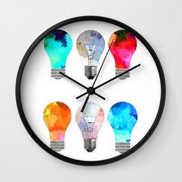 Light Bulbs Wall Clock