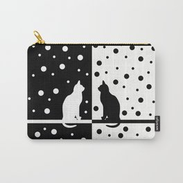 Cats,Black and White 82 Carry-All Pouch