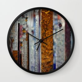 Abstract Glass Wall Clock