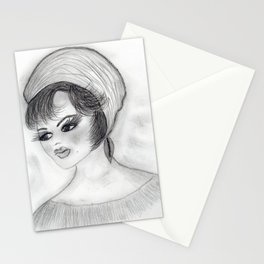 Flapper Girl in cap Stationery Cards