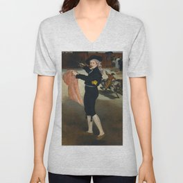"Édouard Manet ""Mlle Victorine Meurent in the Costume of an Espada"" Unisex V-Neck"