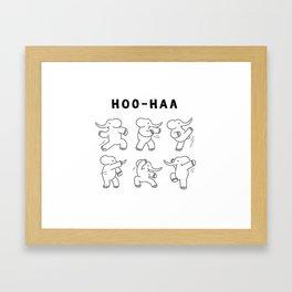 Hoo-Haa ( kungfu elephant ) Framed Art Print