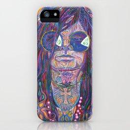 Psychedelic Sun Goddess Portrait iPhone Case