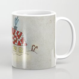 Winter Evening in Tiny Gingerbread House Coffee Mug