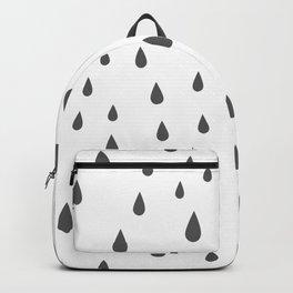 Dark Grey Raindrops pattern Backpack