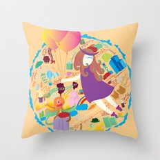 Ambrosia with balloon Throw Pillow