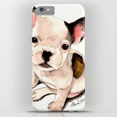 French Bulldog Pug Dog Watercolor Pet Portrait Slim Case iPhone 6 Plus