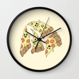 Ghost Pizzas Wall Clock