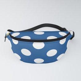 Yale Blue - blue - White Polka Dots - Pois Pattern Fanny Pack
