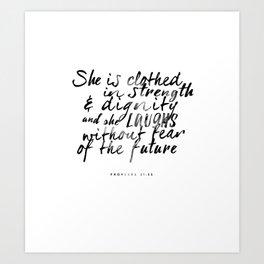 proverbs 31:25 Kunstdrucke
