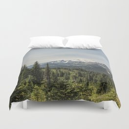 Mt Rainier from Naches Peak Loop Duvet Cover