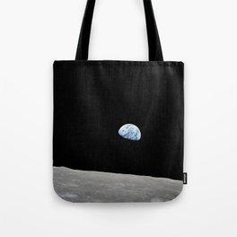 Apollo 8 - Iconic Earthrise Photograph Tote Bag