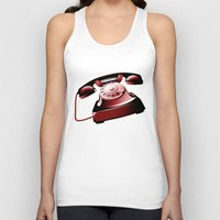 telephone Tank Tops featuring TELEPHONE by Ylenia Pizzetti