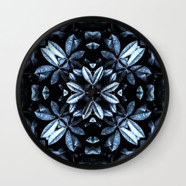 METALLIC LEAVES MANDALA Wall Clock