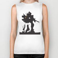 gundam Biker Tanks featuring Gundam RX-78-2 by Jason Weisbrot