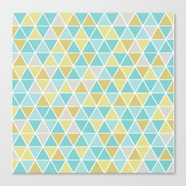 Triangulation (blue and green) Canvas Print