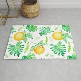 Citrus Tropics - White Rug
